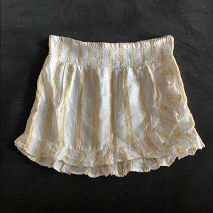 Topshop striped ruffle miniskirt